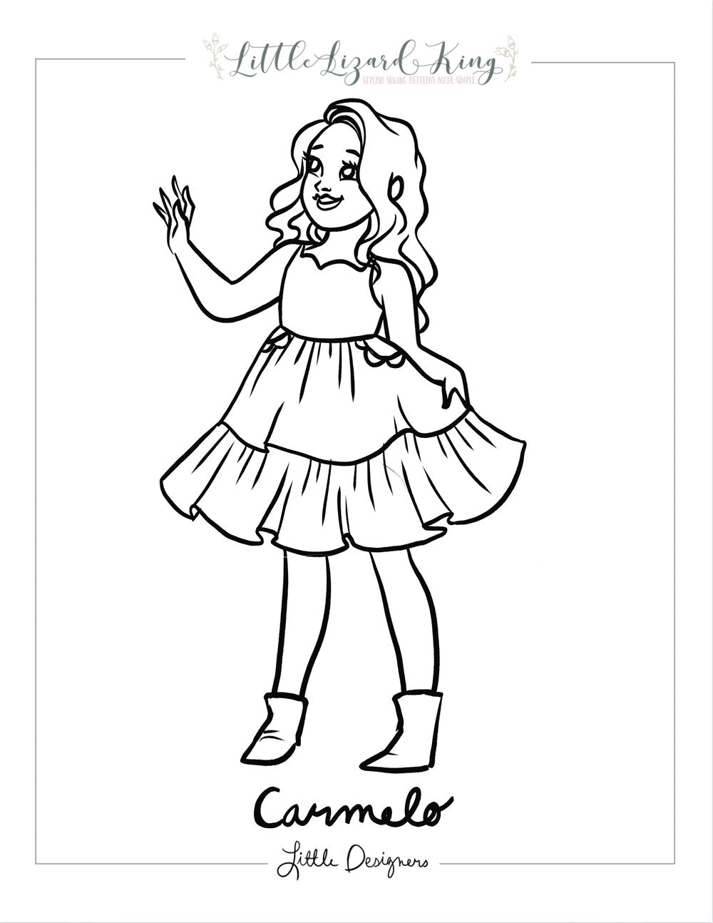 Carmelo Coloring Page