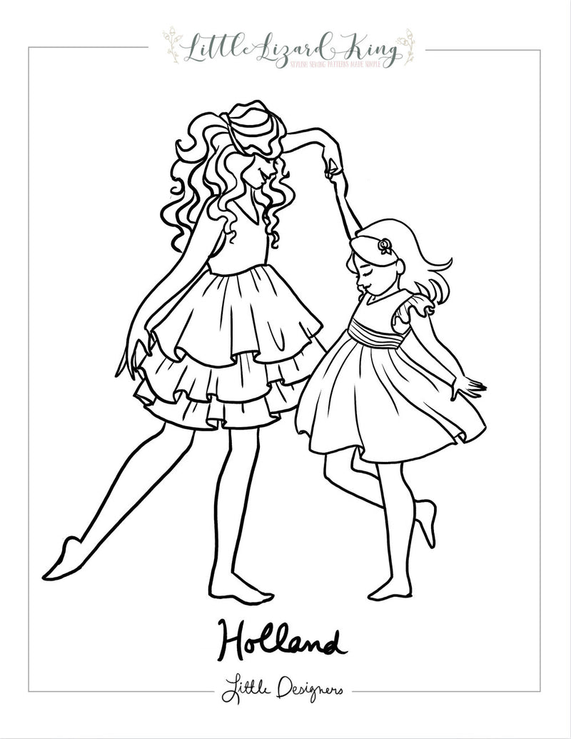 Holland Coloring Page
