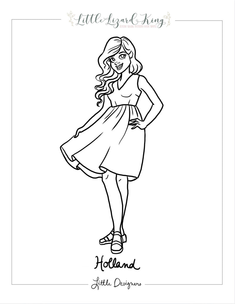 Women's Holland Coloring Page