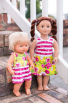 Jersey Doll Dress and Romper