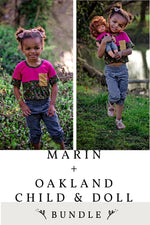 Marin Child, Oakland Child and Marin and Oakland Doll 3 Pattern Bundle