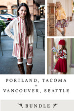 Portland, Tacoma, Vancouver, Seattle 4 pattern Bundle