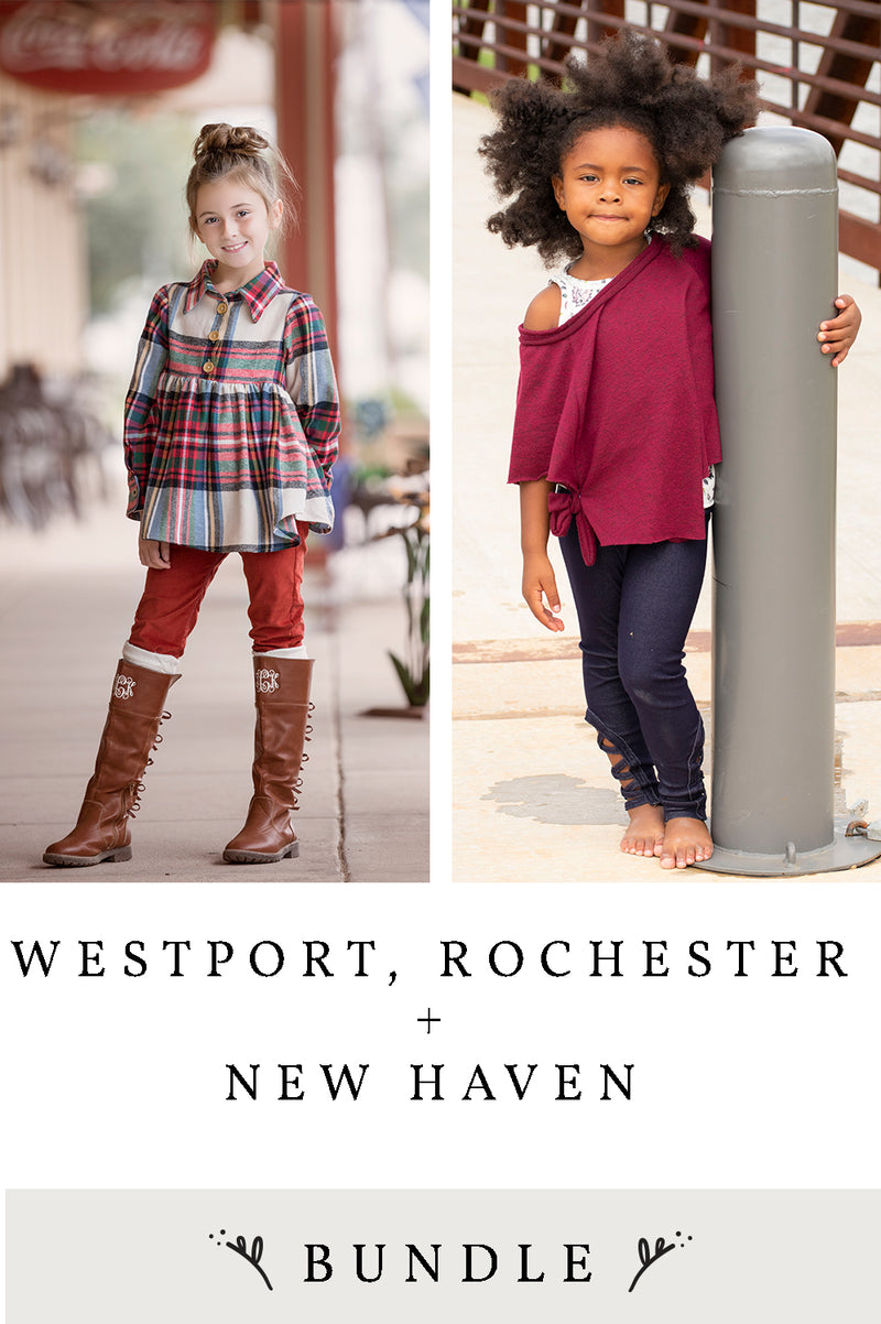 Westport, Rochester and New Haven 3 Pattern Bundle