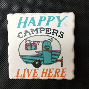 Happy Campers Magnet - Lyla's: Clothing, Decor & More - Plano Boutique