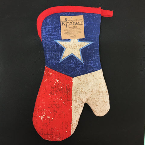 Texas Flag Oven Mitt - Lyla's: Clothing, Decor & More - Plano Boutique