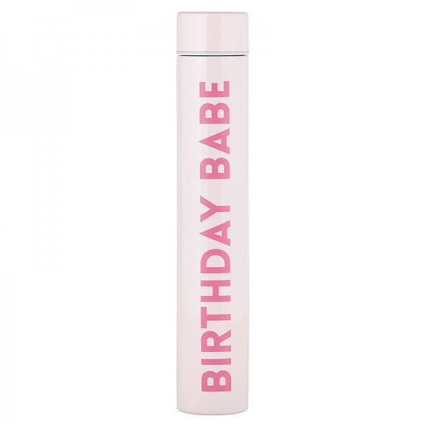 Birthday Babe Slim Pink Flask - Lyla's: Clothing, Decor & More - Plano Boutique