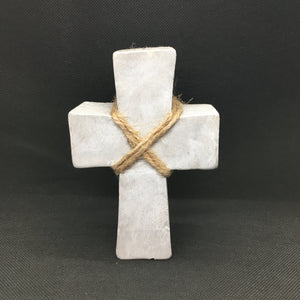 Wood Cross: Grey