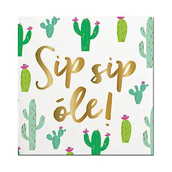 Sip Sip Ole Beverage Napkins - Lyla's: Clothing, Decor & More - Plano Boutique