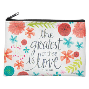 Greatest of these is Love Coin Purse - Lyla's: Clothing, Decor & More - Plano Boutique
