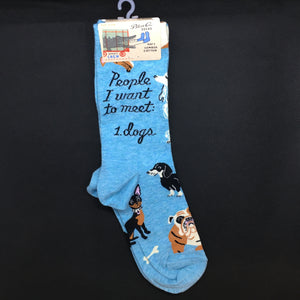 People I Want to Meet Dogs Ladies Socks - Lyla's: Clothing, Decor & More