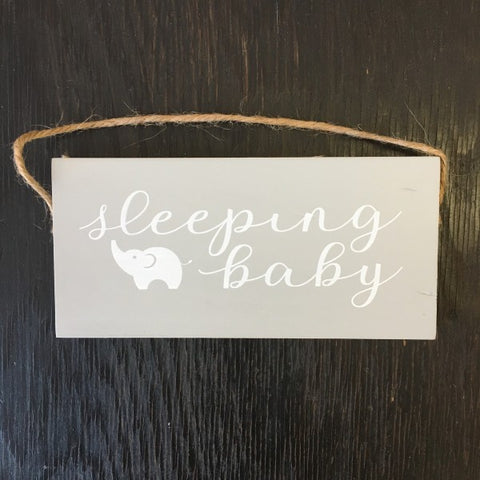 Sleeping Baby Wooden Sign - Lyla's: Clothing, Decor & More - Plano Boutique