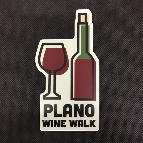 Plano Wine Walk Sticker