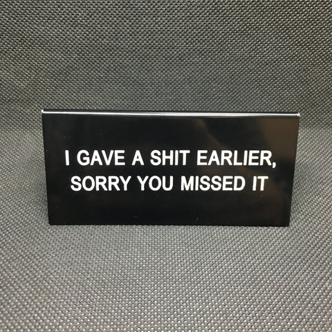 Sorry You Missed It Funny Sign - Lyla's: Clothing, Decor & More - Plano Boutique