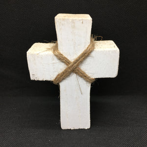 Wood Cross: White