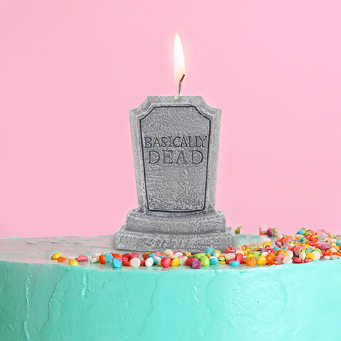 Basically Dead Birthday Candle - Lyla's: Clothing, Decor & More - Plano Boutique