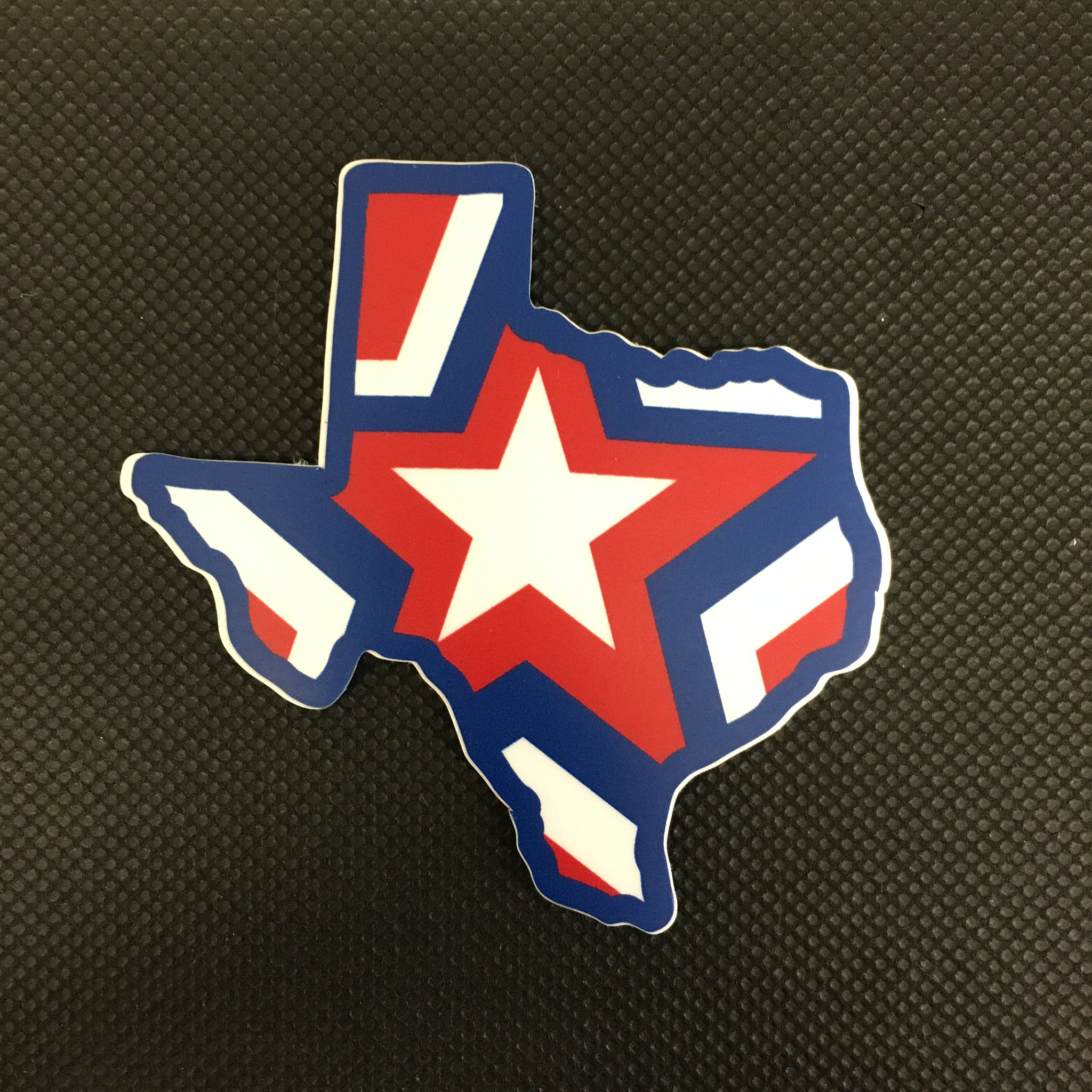 Texas Shaped Star Sticker