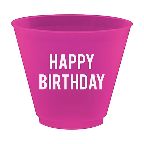 Happy Birthday Wine Party Cups - Lyla's: Clothing, Decor & More - Plano Boutique