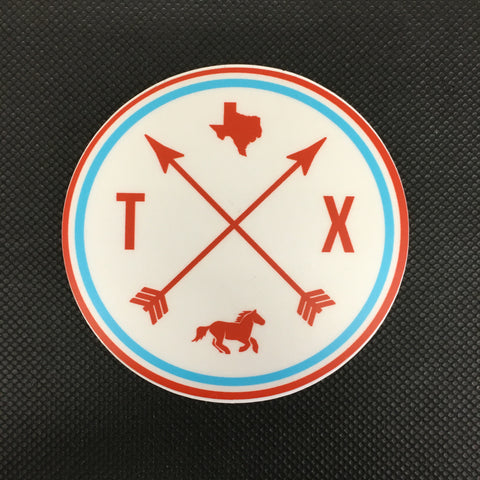 TX Arrow Sticker