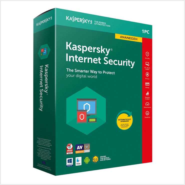 Kaspersky Internet Security 2021 1 Device 1 Year Official website CD Key  - Product key