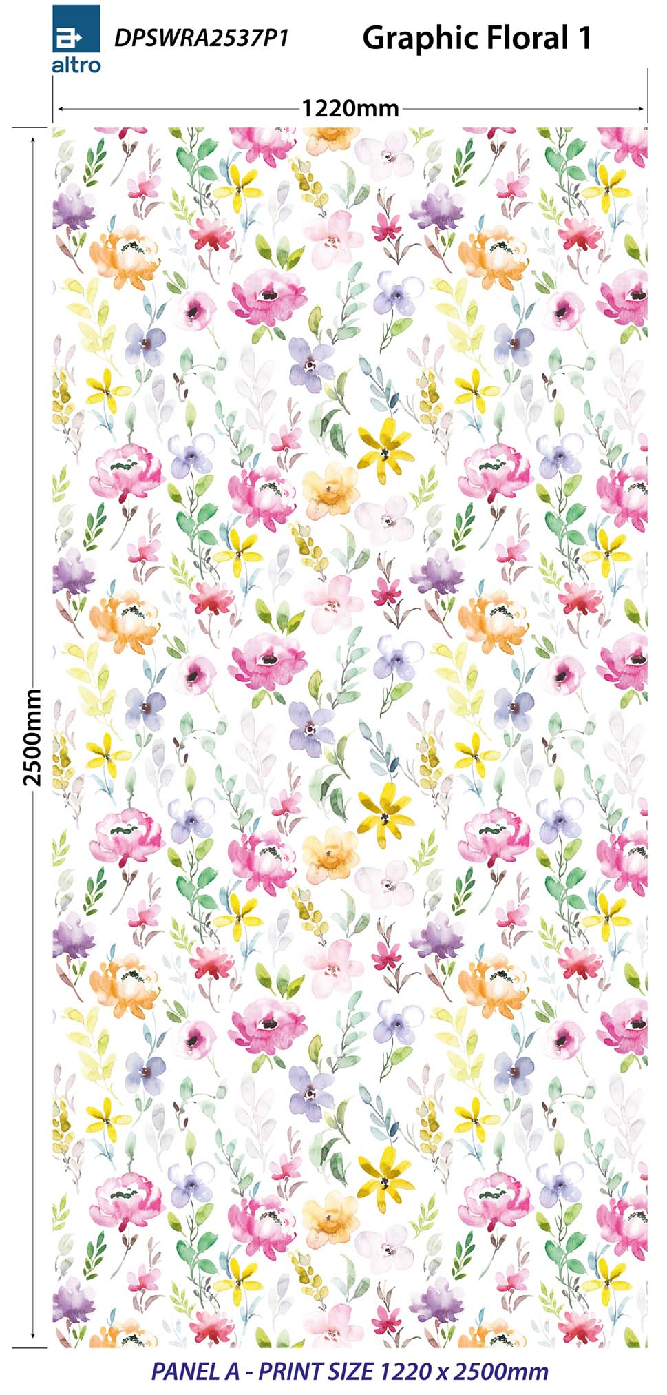 Altro Whiterock Digiclad Kit Graphic Floral 1 - Altrodirect
