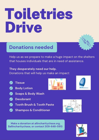 1st Annual Toiletry Drive