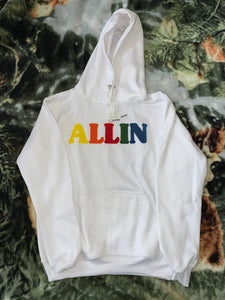 """Icy White"" WHAT THE ALLIN Hoodie"