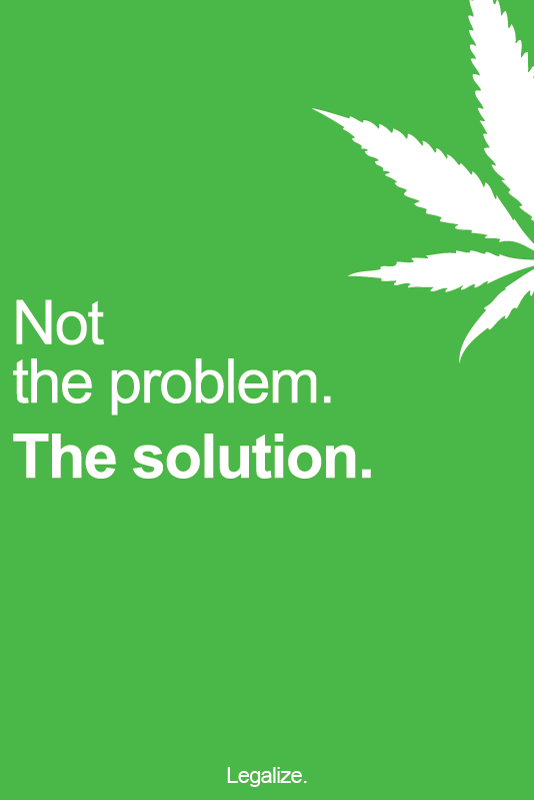 The Solution - Marijuana Poster