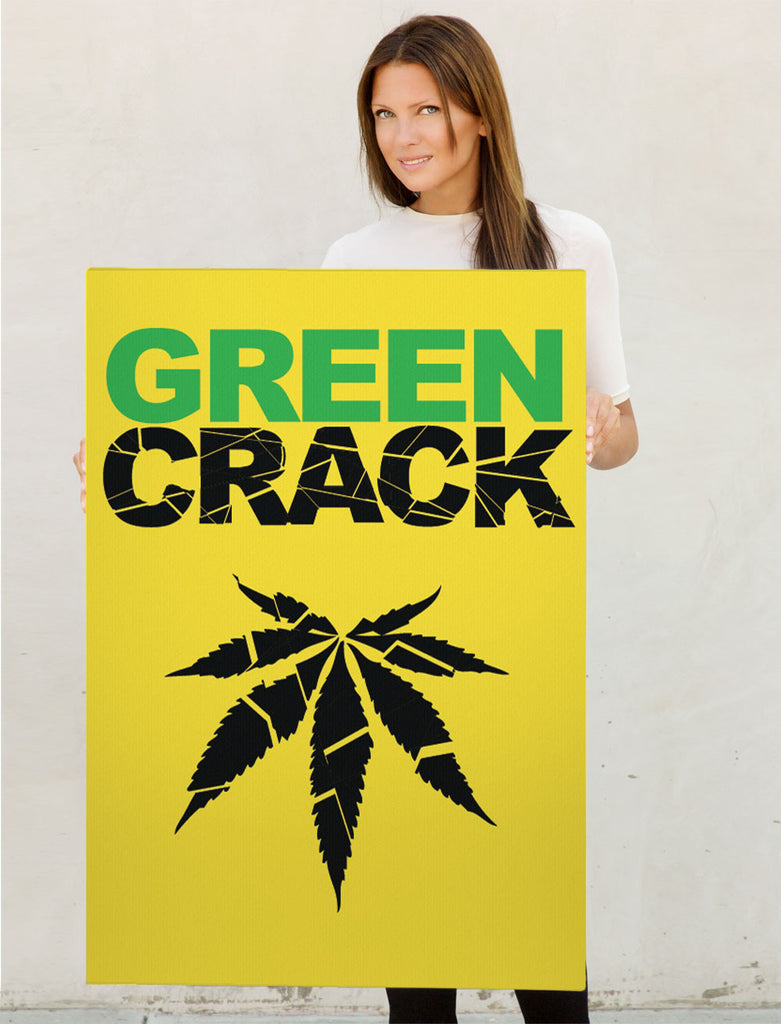 Canvas Green Crack Print