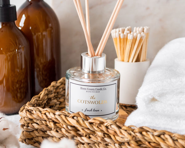 The Cotswolds - Fresh Linen Reed Diffuser