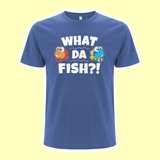 """What da fish"" T-Shirt blau"