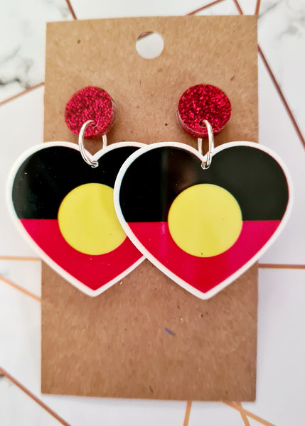Indigenous Flag Heart