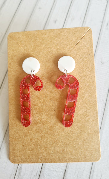 Laser Cut Candy Cane Dangles