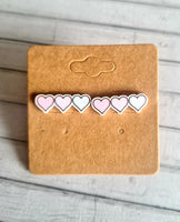 Trio of Heart Studs