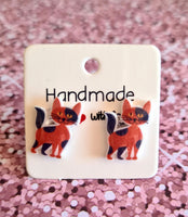 Tabby Cat Statement Studs