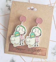 Sarah & Duck Earrings