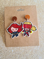 Captain Marvel & Black Widow