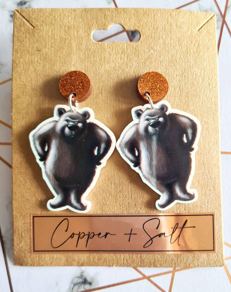 The Very Cranky Bear Earrings