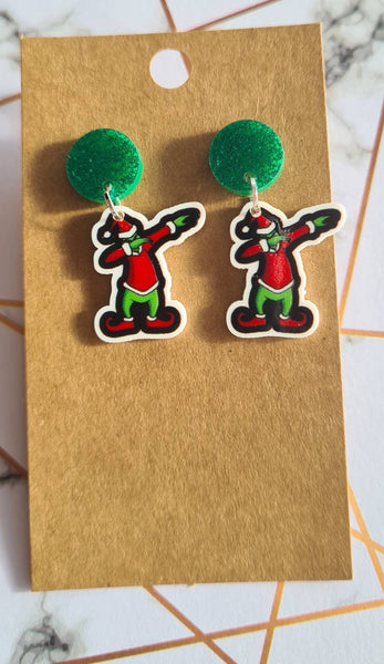 Grinch Dabbing Mini Dangles