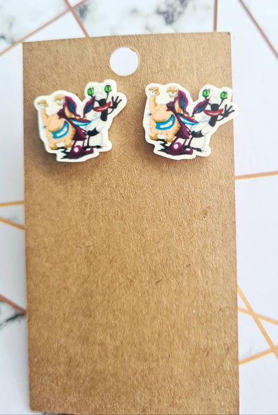 Arr! Real Monsters Statement Studs