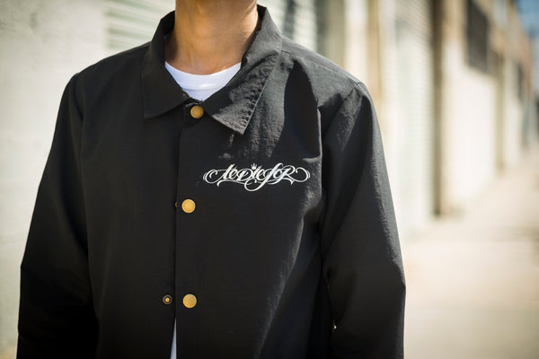 """TANGLED"" COACHES JACKET (BLACK)"