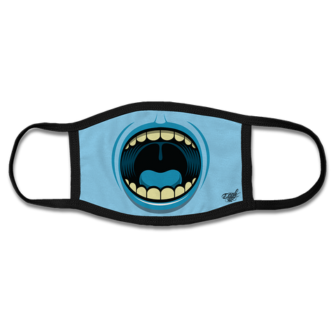 BIG MOUTH FACE MASK - BLUE