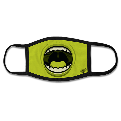BIG MOUTH FACE MASK - GREEN