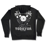 """WELL OILED MACHINE"" ZIP UP SWEATSHIRT"