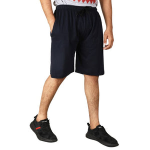 Stylish Black Cotton Blend Solid Regular Shorts For Men