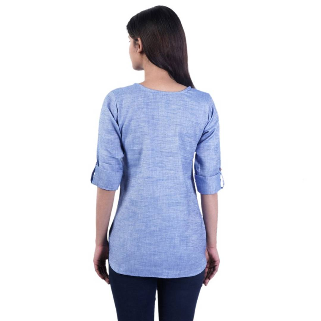 Women's Beautiful Denim Short Kurtis/Tops