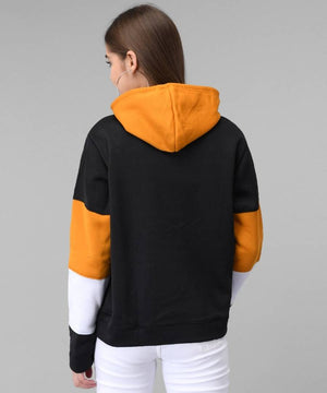Black With Mustard And White Strip Sweat Shirt