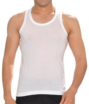 Men's Multicoloured Cotton Solid Sleeveless Gym Vest (Pack Of 4)