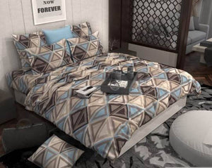 Stylish Floral Printed Supersoft Glace Cotton Double Bedsheet 90x100 inch with 2 Pillow Covers