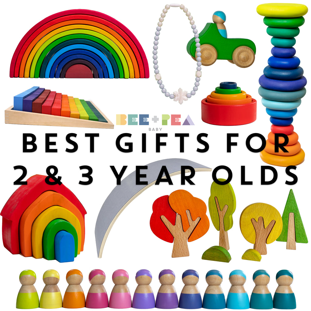 Best Gifts for 2 Year Olds, Best Gifts for 3 year olds, 3 year old christmas gifts, wooden, bee pea baby