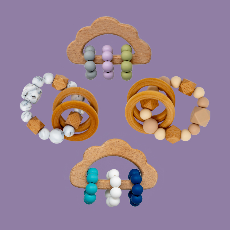 Wooden + Silicone Teether
